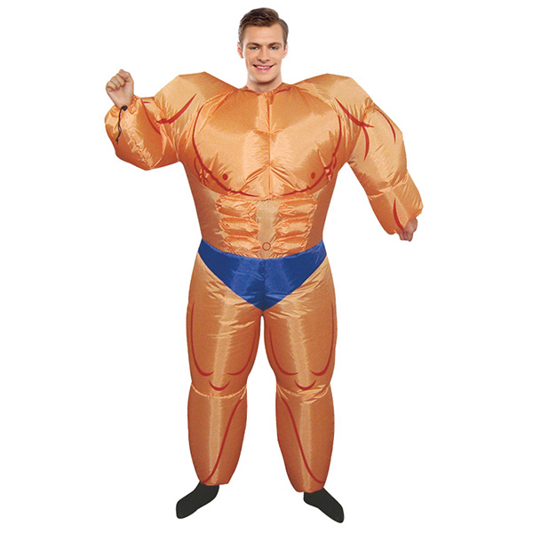 Adult Inflatable Muscle Man Costume Halloween Cosplay