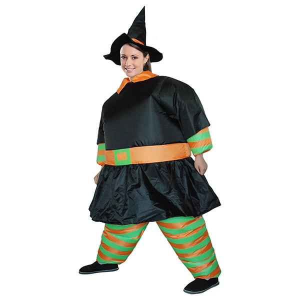 Erwachsene Aufblasbar Hexe Kostüm Halloween Angel Wings Karnevals Kostüme