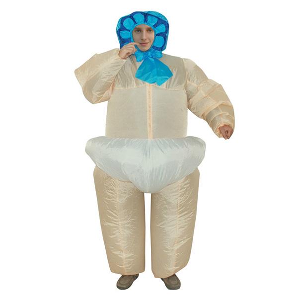 Voksen Oppustelig Baby Kostume Halloween Cosplay Fastelavn
