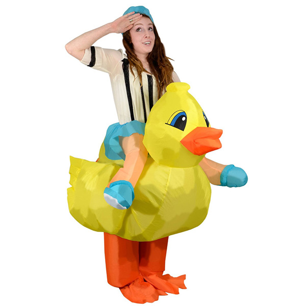 Adult Inflatable Duck Costume Halloween Cosplay Purim Carnaval