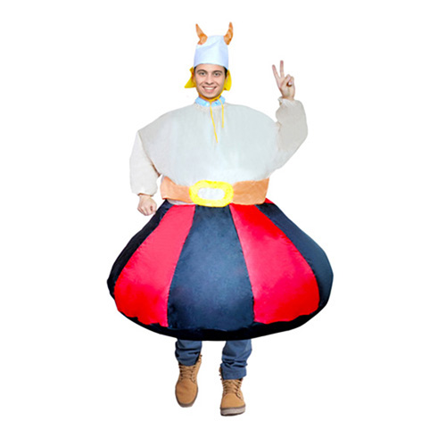 Adult Inflatable Red And White And Black Costume Halloween Cosplay Purim Carnaval