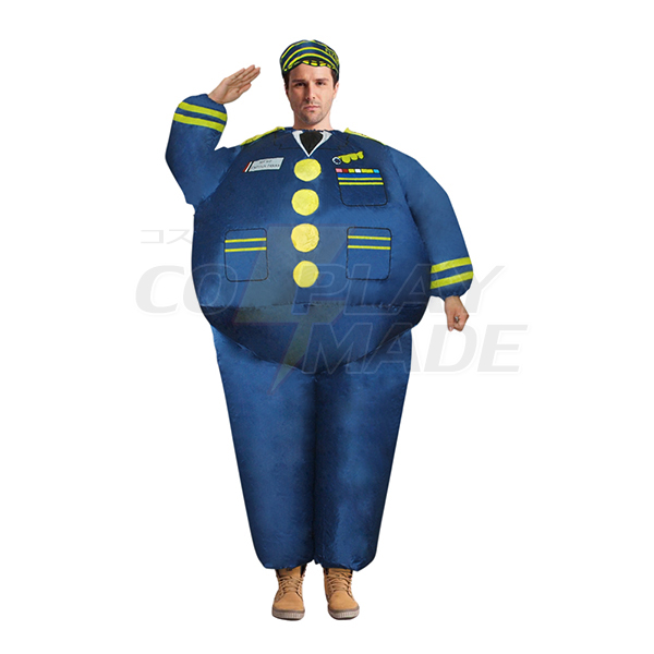 Adult Inflatable Blue Navy Costume Halloween Cosplay Purim Carnaval