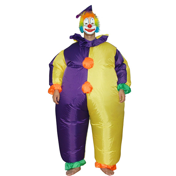 Adulto Inflable Payaso Disfraz Halloween Cosplay Purim Carnaval