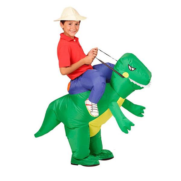 Kids Inflatable Dinosaur Costume Halloween Children Cosplay