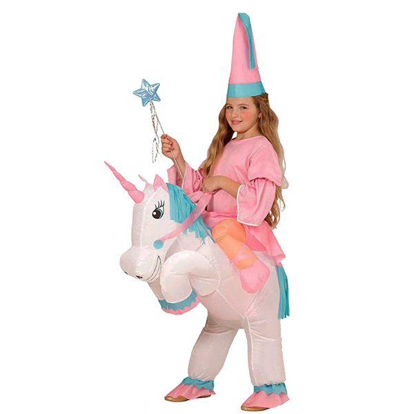 Kids Inflatable Unicorn Costume Halloween Children Cosplay