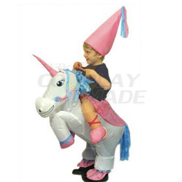 Kids Inflatable Unicorn Costume Halloween Children Cosplay