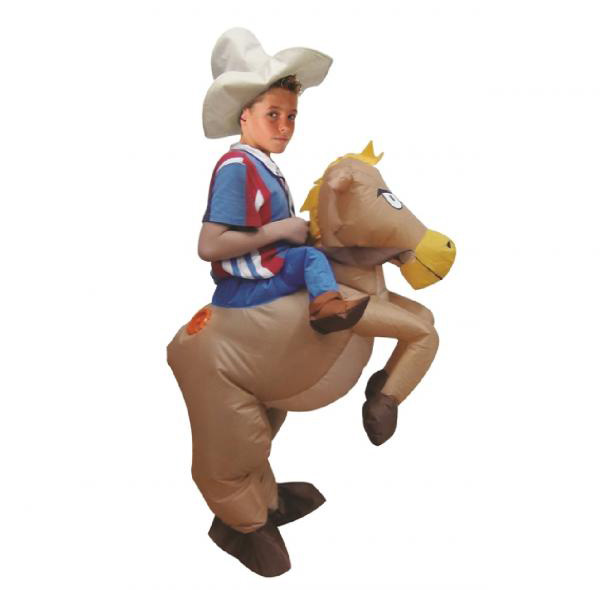 Kids Inflatable Cowboy Costume Halloween Children Cosplay