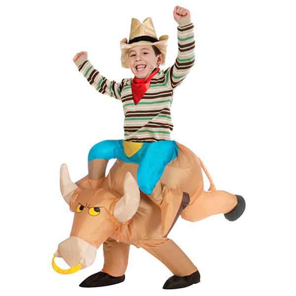 Kids Inflatable Bull Costume Halloween Children Cosplay