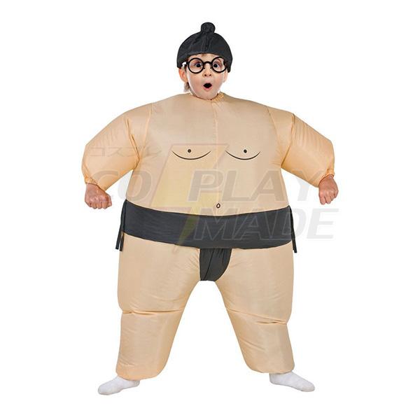 Kids Inflatable Sumo Costume Halloween Children Cosplay