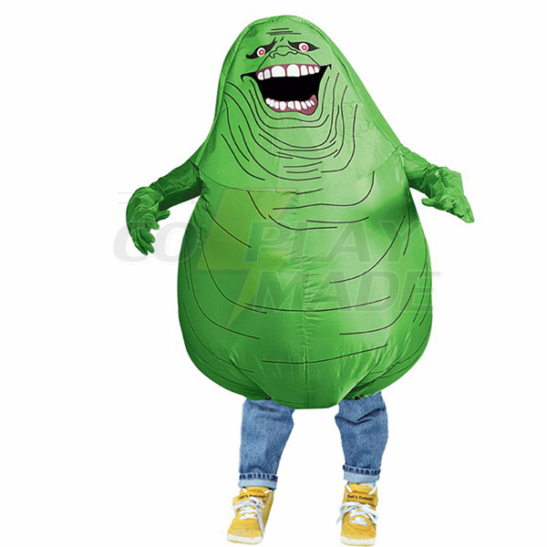 Børnene Oppustelig Grøn Ghost Kostume Halloween Børn Cosplay Fastelavn