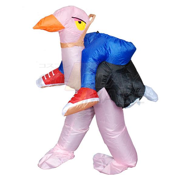 Børnene Oppustelig Ostrich Kostume Halloween Børn Cosplay Fastelavn