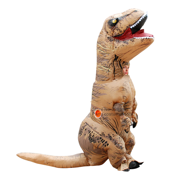 Kids Inflatable T-REX Costume Halloween Children Cosplay