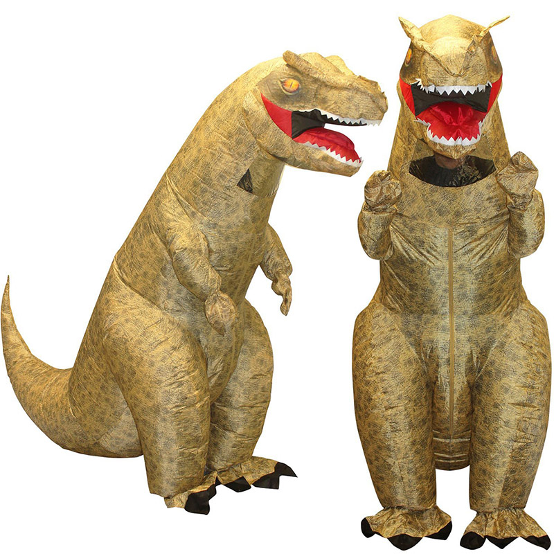 New T-rex Inflatable Mens Costume Dinosaur Womens Halloween