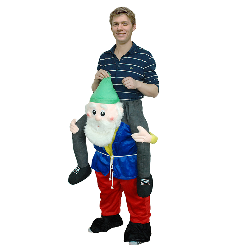 Adult Carry Me (Ride On) Costume Gnome Mascot Pants – One Size