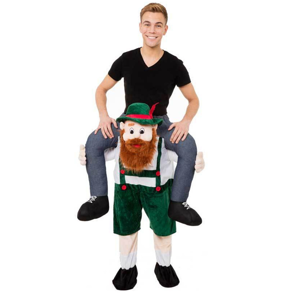 Adult Carry Me (Ride On) Costume Bearded Mascot Pants – One Size