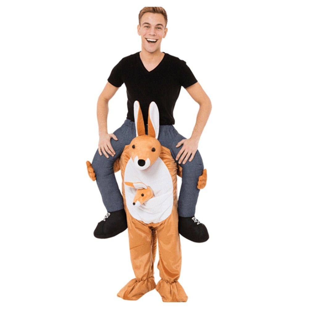 Adult Carry Me (Ride On) Costume Kangaroo Mascot Pants – One Size