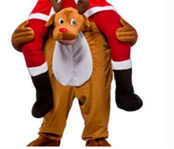 Adult Carry Me (Ride On) Costume Reindeer Mascot Pants – One Size
