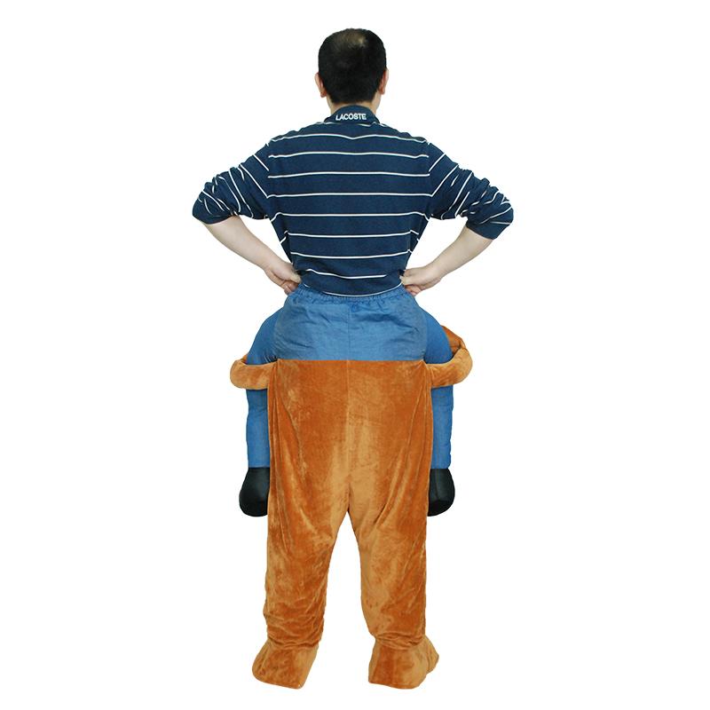 Voksen Carry Me (Ride On) Kostume Bjørn Mascot Bukser Fastelavn Halloween