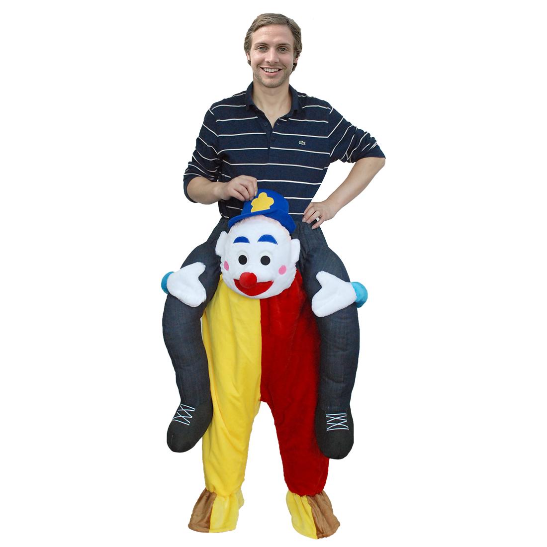 Erwachsene Carry Me (Huckepack) Kostüme Clown Maskottchen Hosen – Faschingskostüme