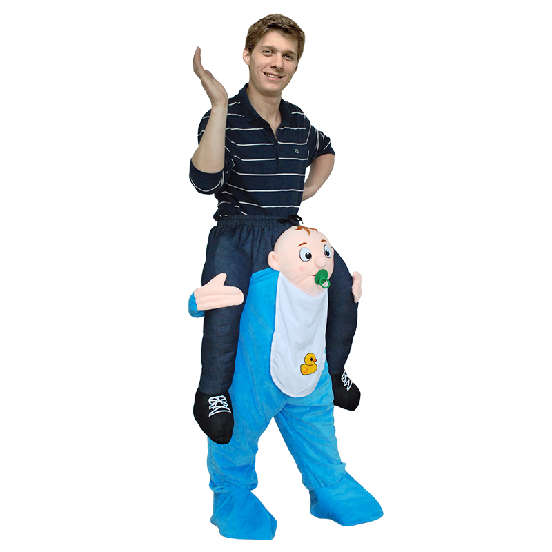 Adult Carry Me (Ride On) Costume Baby Mascot Pants – One Size