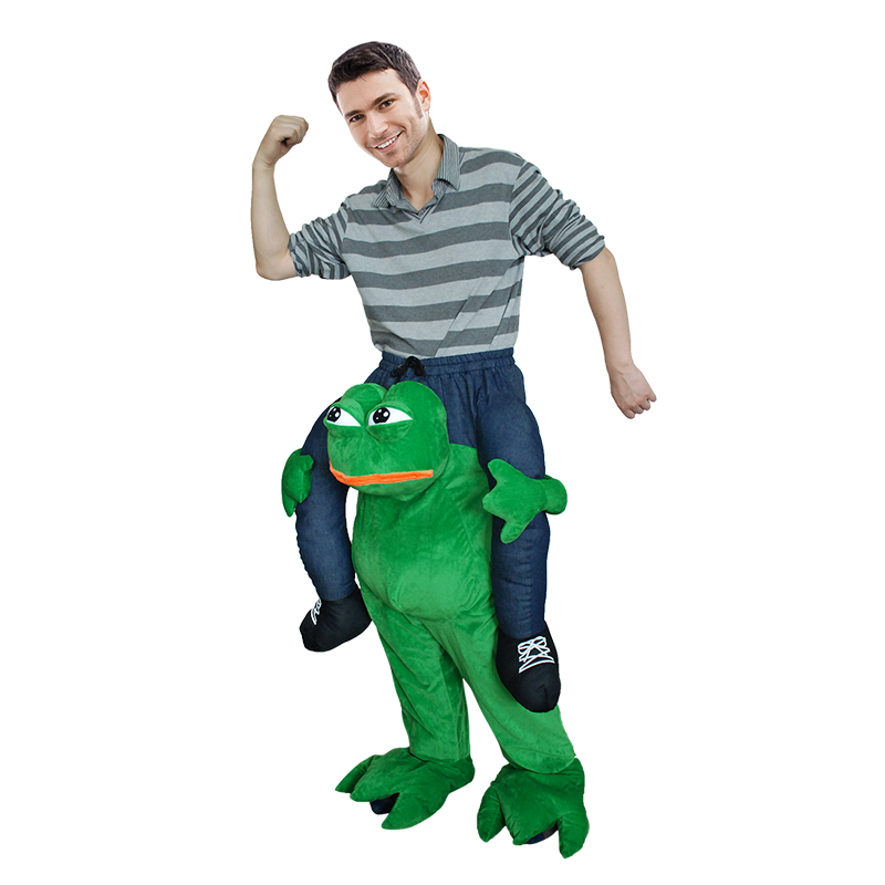 Adult Carry Me (Ride On) Costume Frog Mascot Pants – One Size