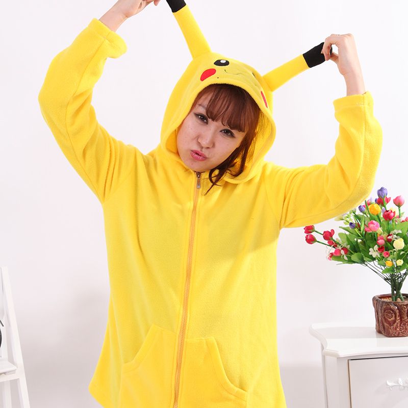 Adult Animal Sweater Pikachu Polar Flleece Sweater Hoodies