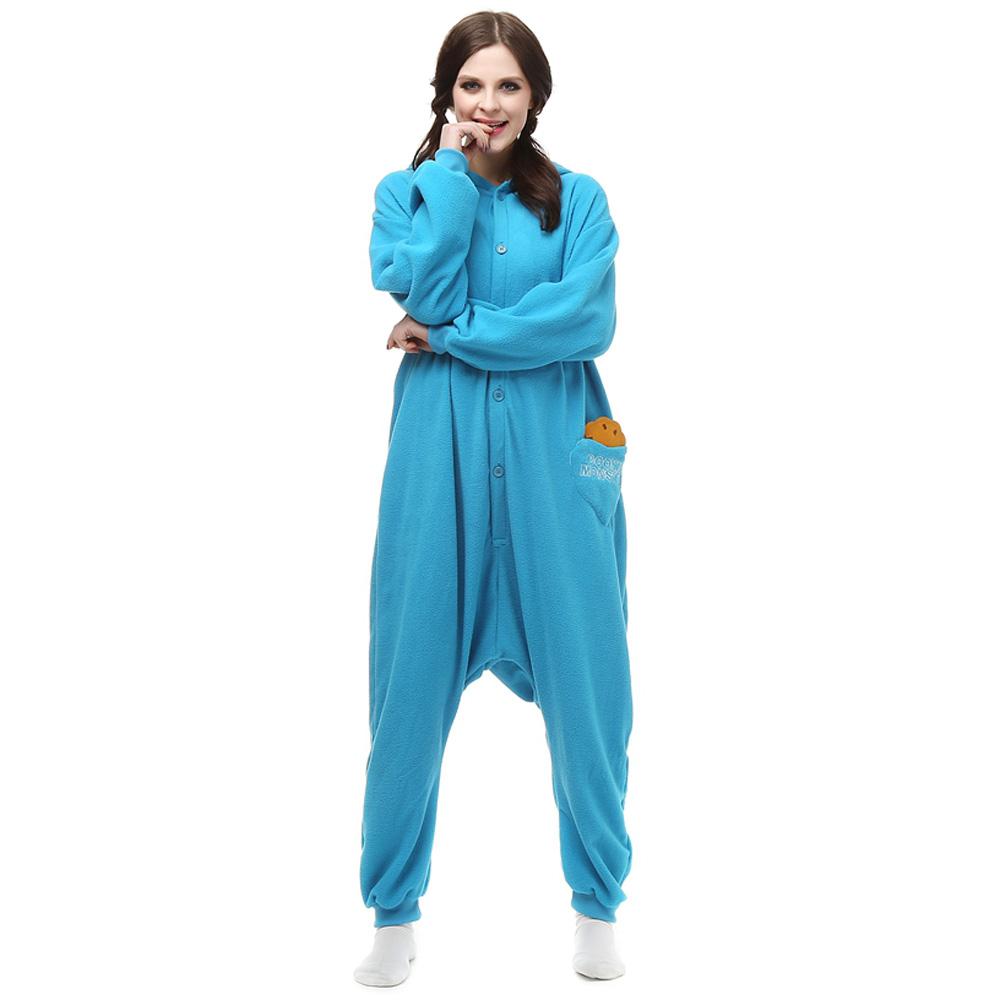 Sesame Street Kigurumi Kostuum Unisex Vlies Pyjama Onesie