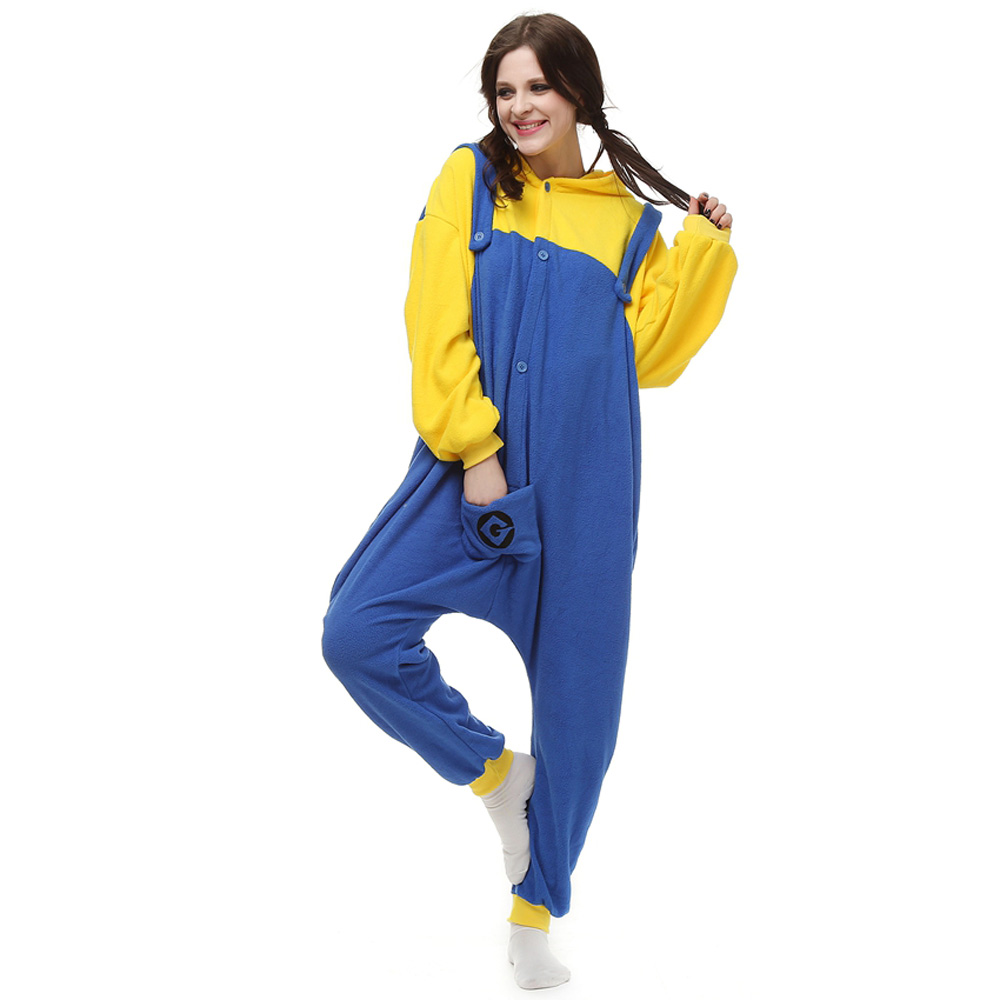 Minions Kigurumi Kostuum Unisex Vlies Pyjama Onesie