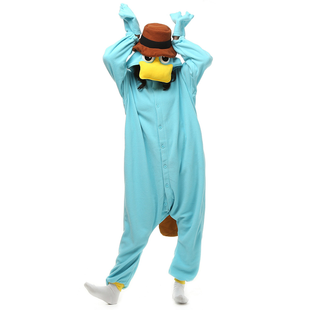 Perry The Platypus Kigurumi Costume Unisex Fleece Pajamas Onesie