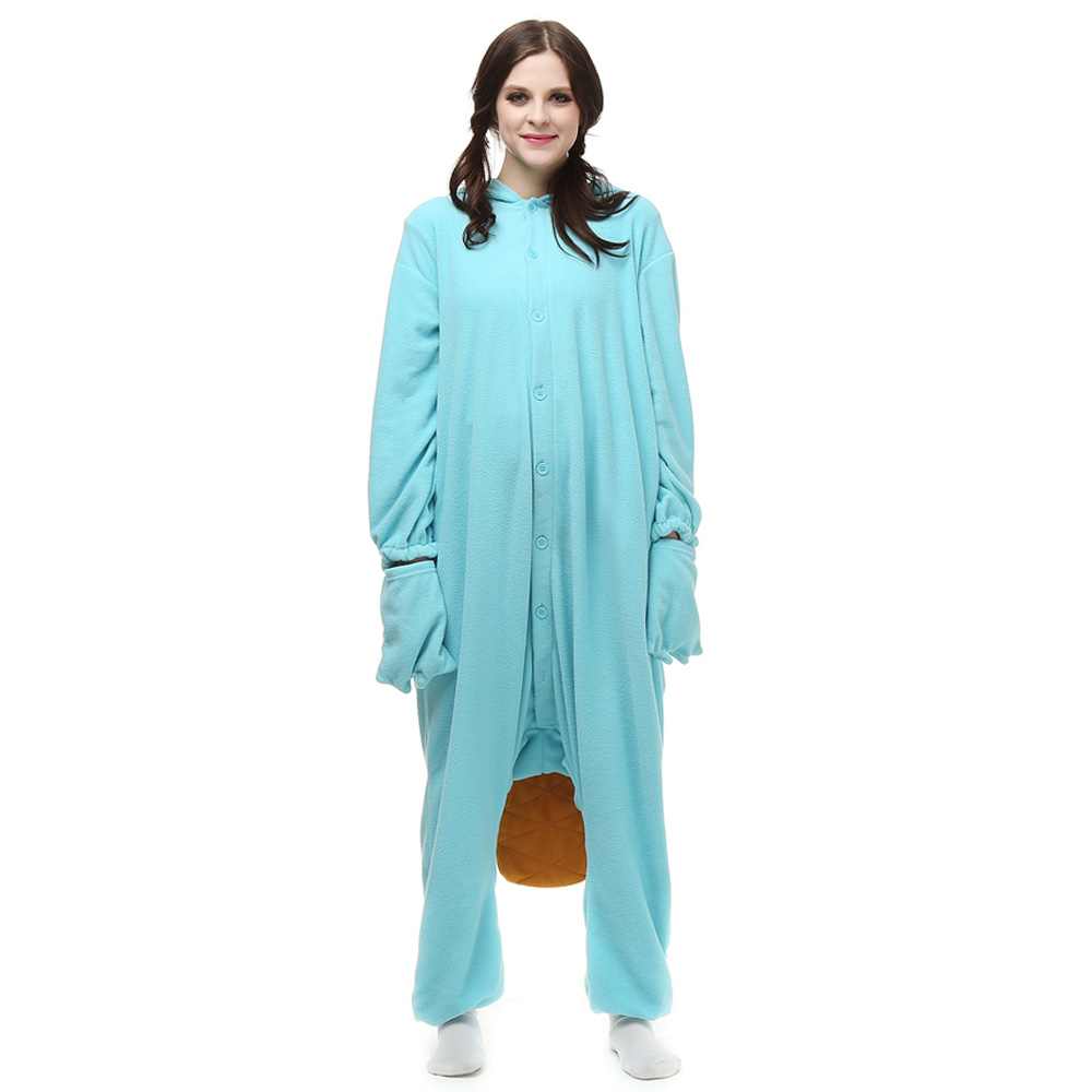 Perry das Schnabeltier Kigurumi Kostüme Unisex Vlies Pyjama Gymnastikanzug/Einteiler
