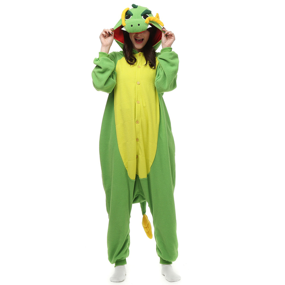 Chinese Dragon Kigurumi Costume Unisex Fleece Pajamas Onesie