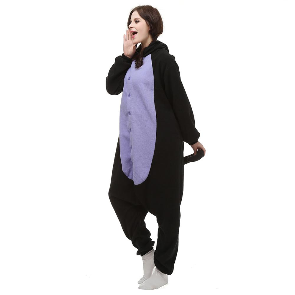 Mitternachtskatze Kigurumi Kostüme Unisex Vlies Pyjama Gymnastikanzug/Einteiler