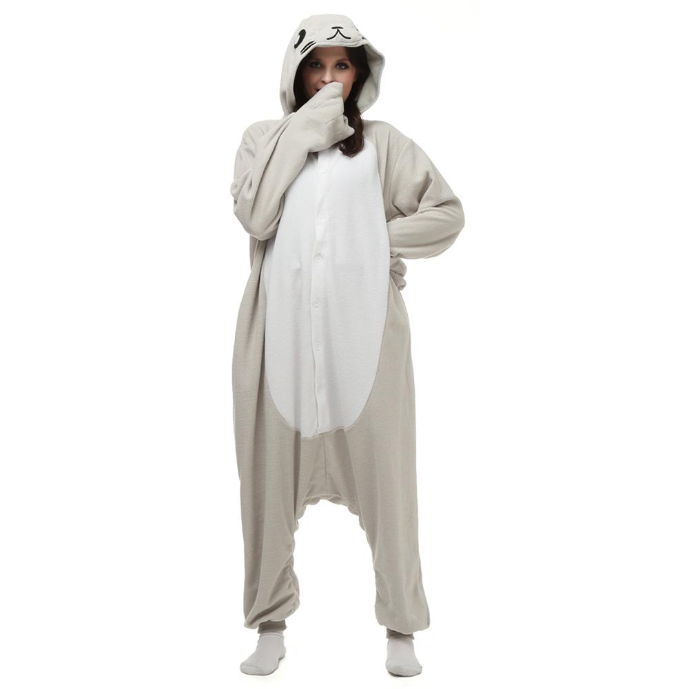 Seal Kigurumi Kostuum Unisex Vlies Pyjama Onesie