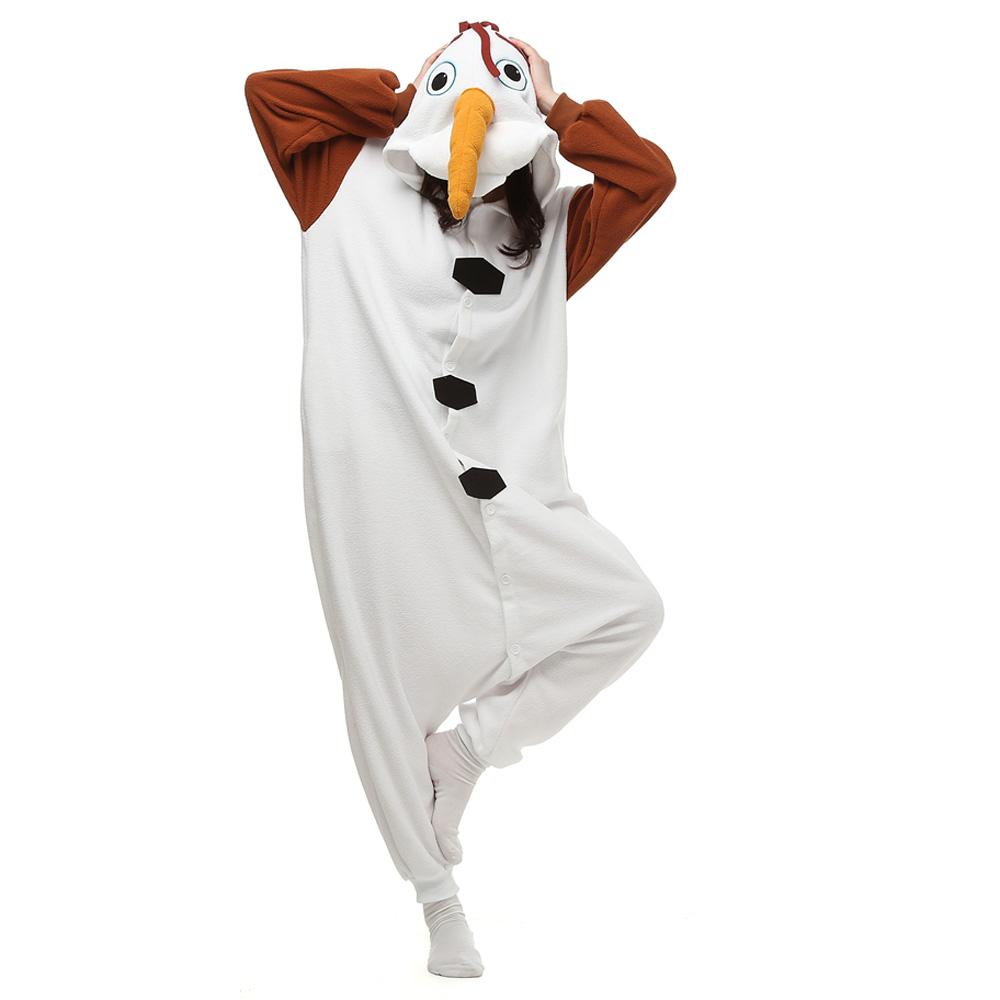Olaf Kigurumi Costumi Unisex Fleece Pigiama Onesie