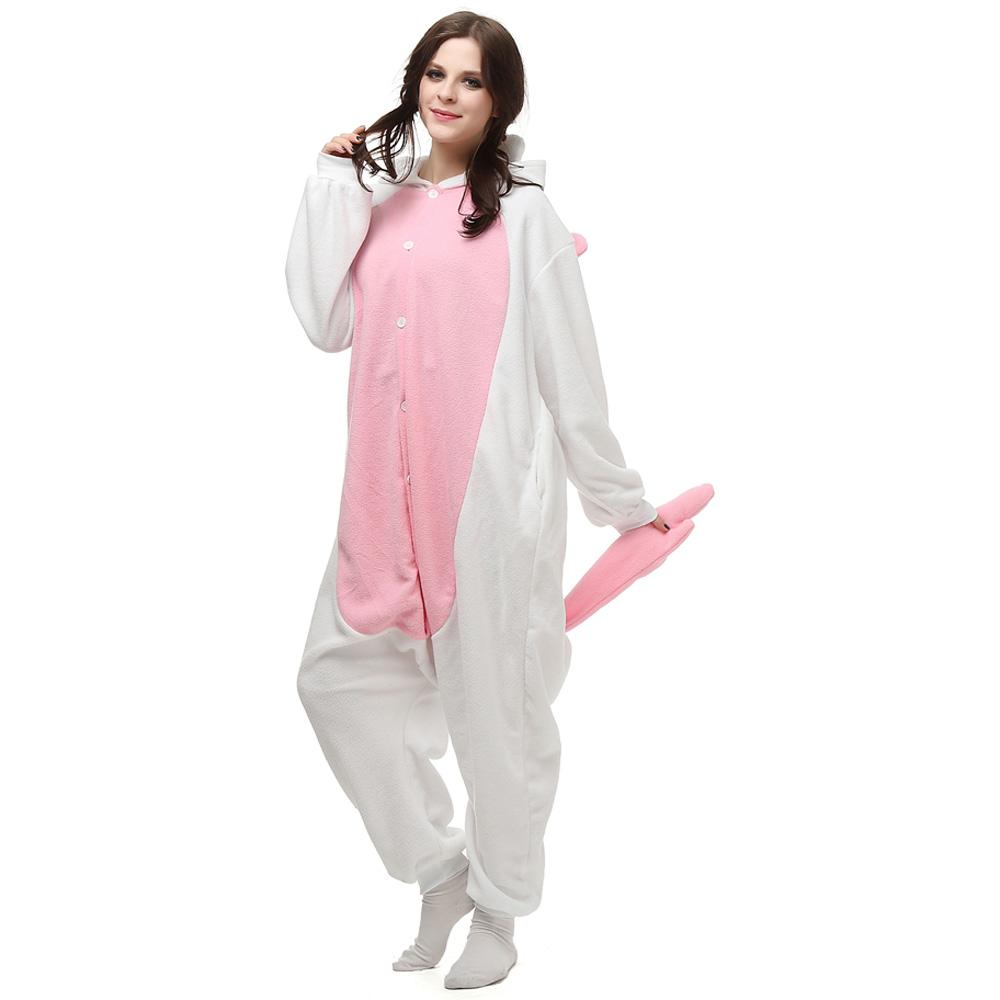 Pink Unicorn Kigurumi Costume Unisex Fleece Pajamas Onesie ...