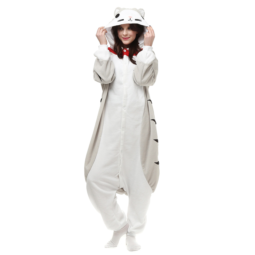 Cheese Cat Kigurumi Costume Unisex Fleece Pajamas Onesie
