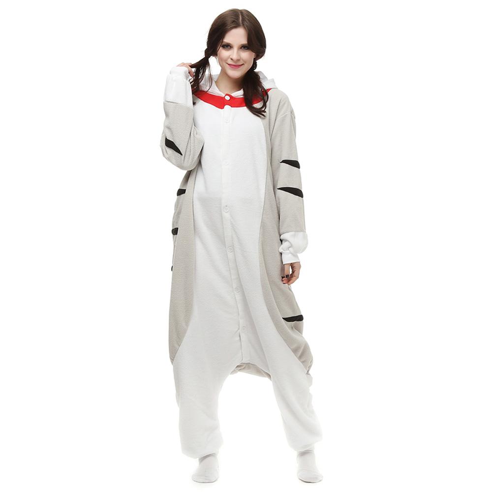 Cheese Cat Kigurumi Kostuum Unisex Vlies Pyjama Onesie