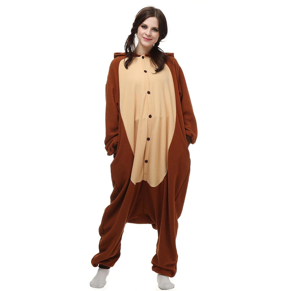 Apen Kigurumi Kostuum Unisex Vlies Pyjama Onesie