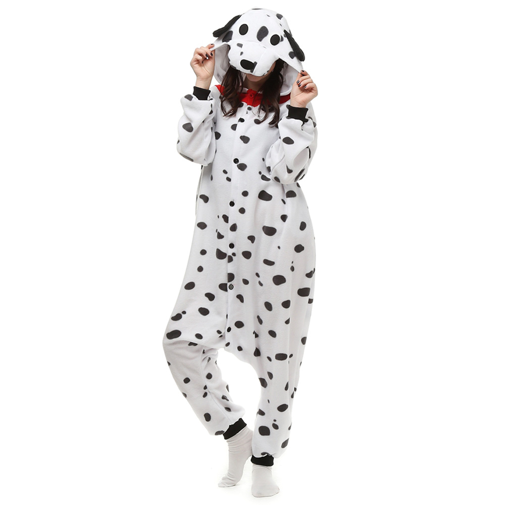 Spotty Dog Kigurumi Costume Unisex Fleece Pajamas Onesie