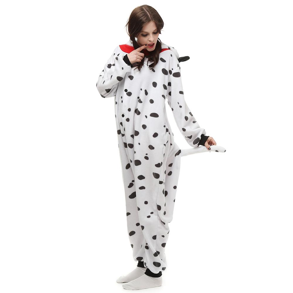 Spotty Dog Kigurumi Kostuum Unisex Vlies Pyjama Onesie