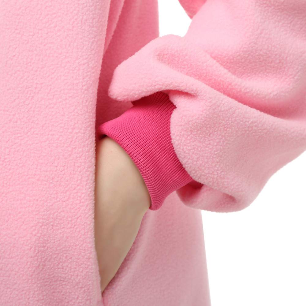 Rosa Einhorn Kigurumi Kostüme Unisex Vlies Pyjama Gymnastikanzug/Einteiler