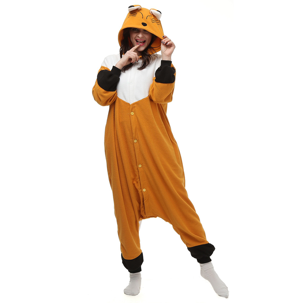 Fox Kigurumi Costume Unisex Fleece Pajamas Onesie