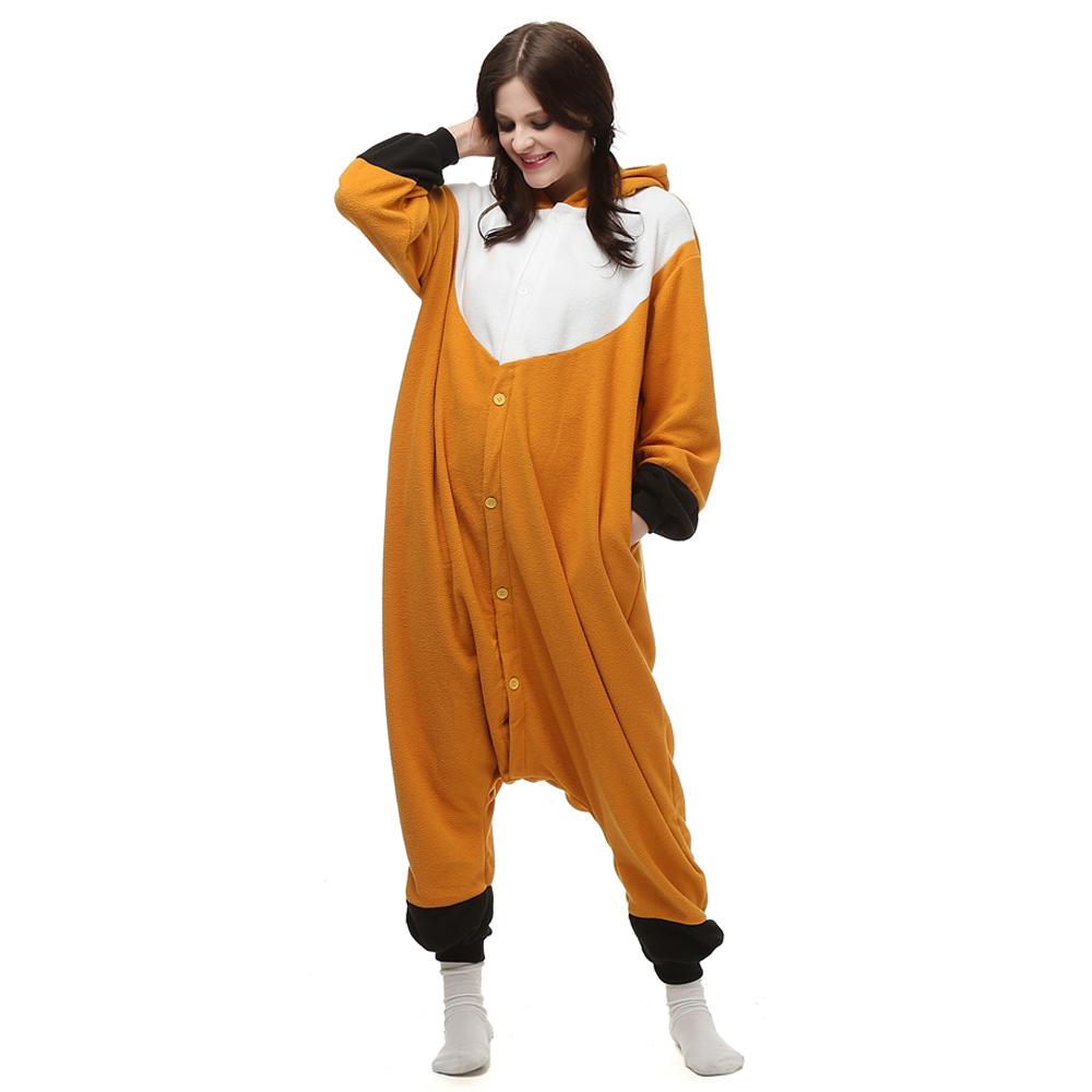 Vos Kigurumi Kostuum Unisex Vlies Pyjama Onesie