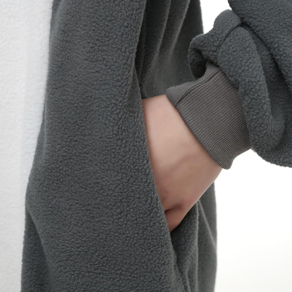 Grijs Wolf Kigurumi Kostuum Unisex Vlies Pyjama Onesie