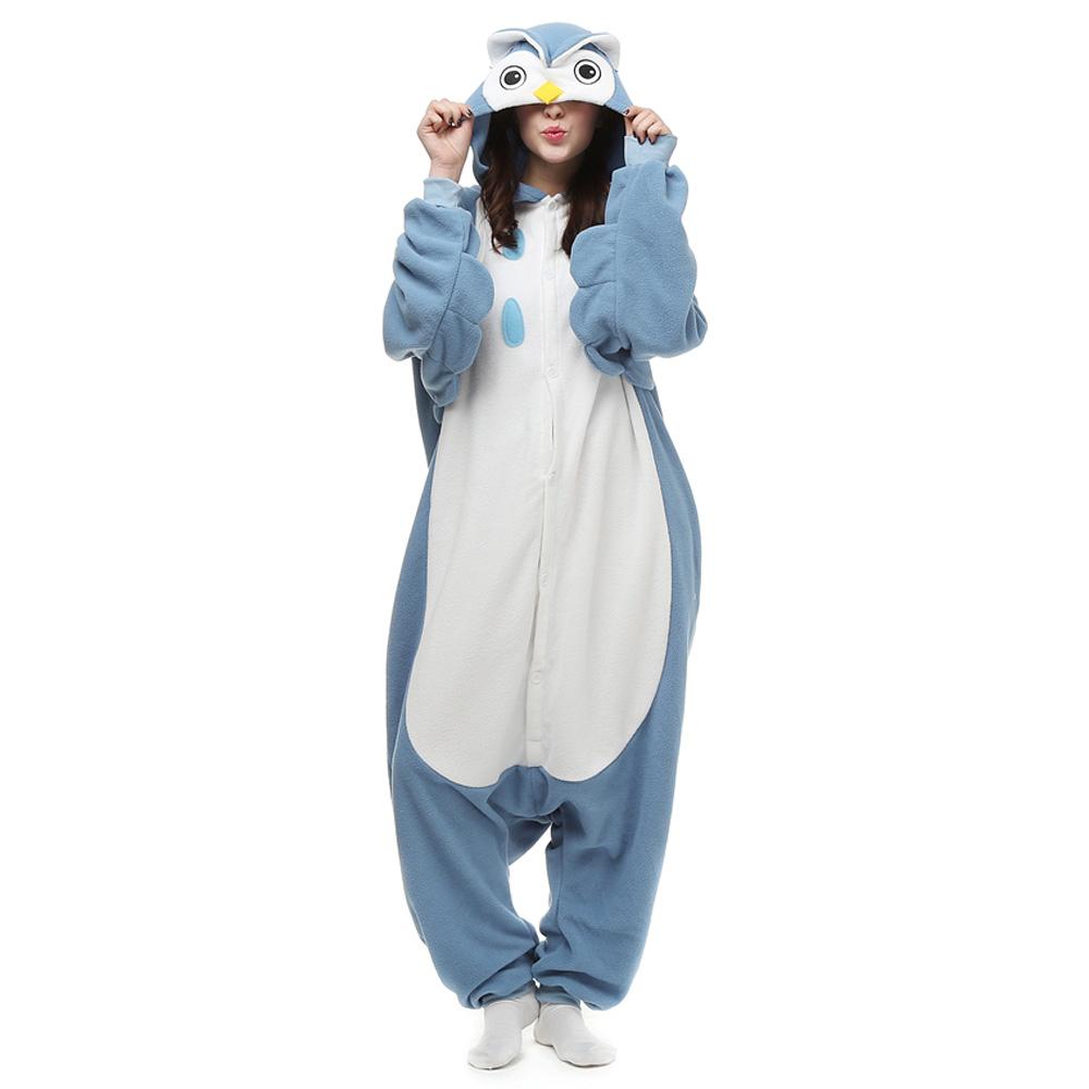 Owl Kigurumi Kostuum Unisex Vlies Pyjama Onesie