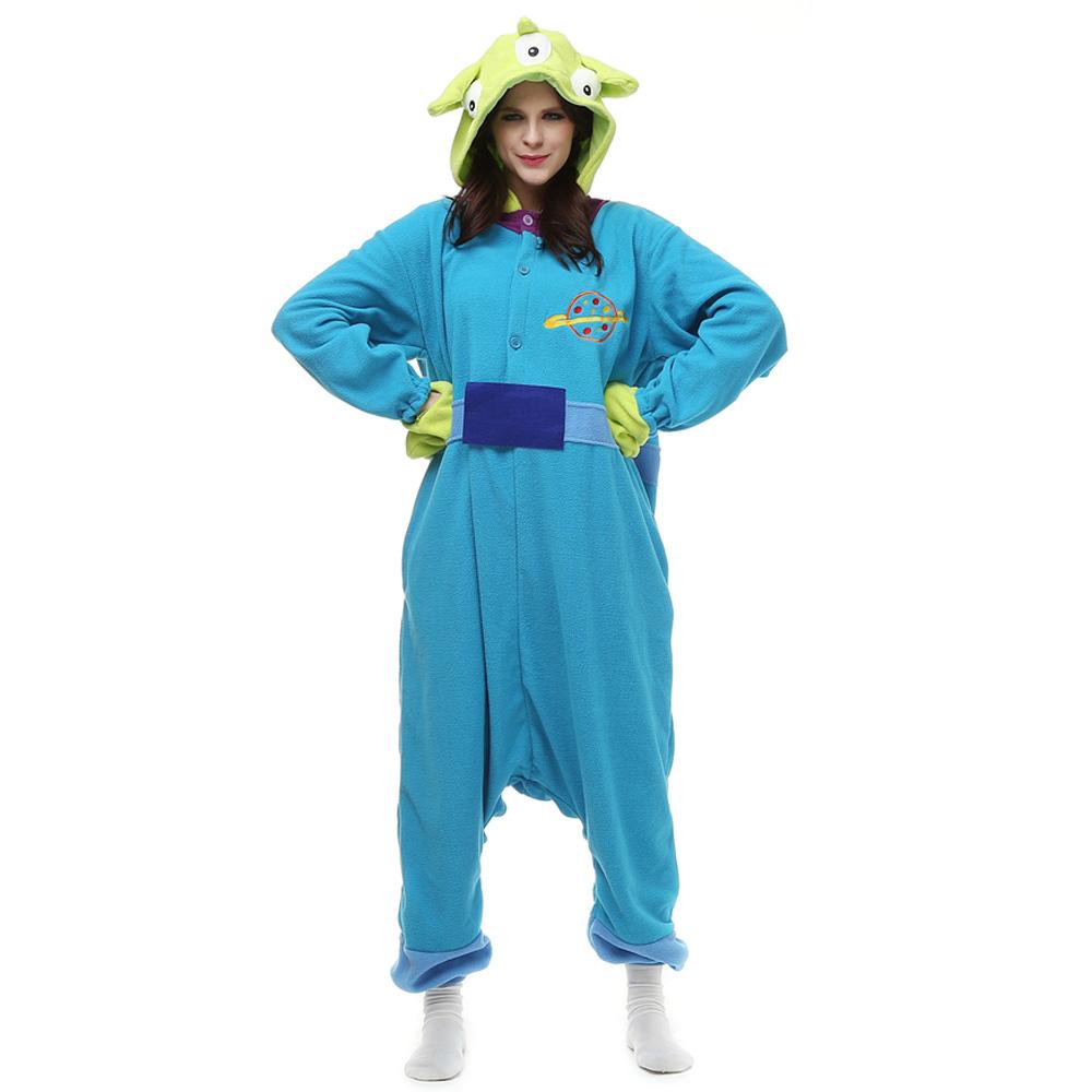 Three Strange Kigurumi Kostüme Unisex Vlies Pyjama Gymnastikanzug/Einteiler