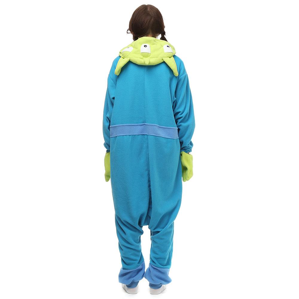 Three Strange Kigurumi Kostuum Unisex Vlies Pyjama Onesie