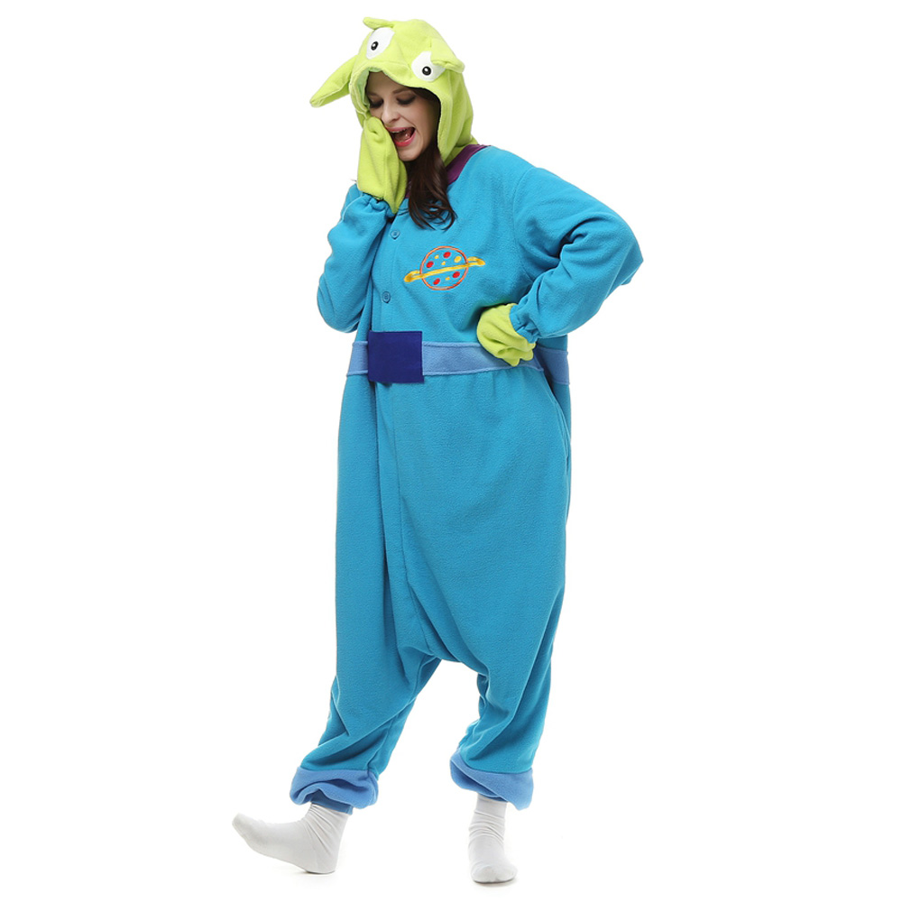 Three Strange Kigurumi Costume Unisex Fleece Pajamas Onesie