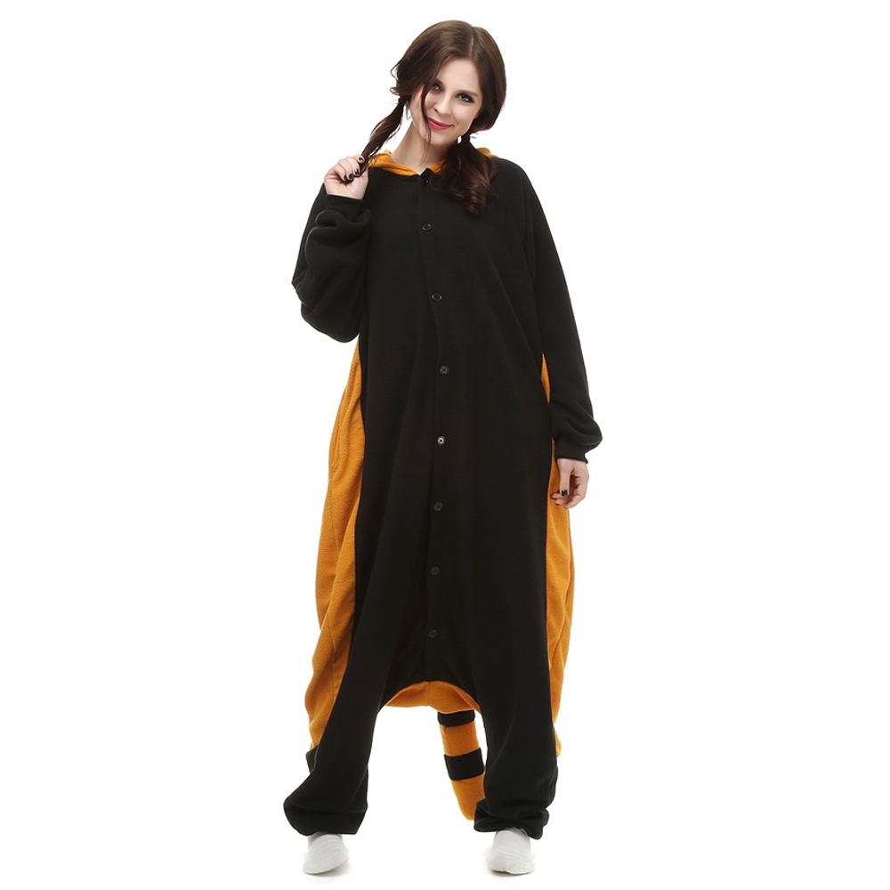 Gewone Wasbeer Kigurumi Kostuum Unisex Vlies Pyjama Onesie