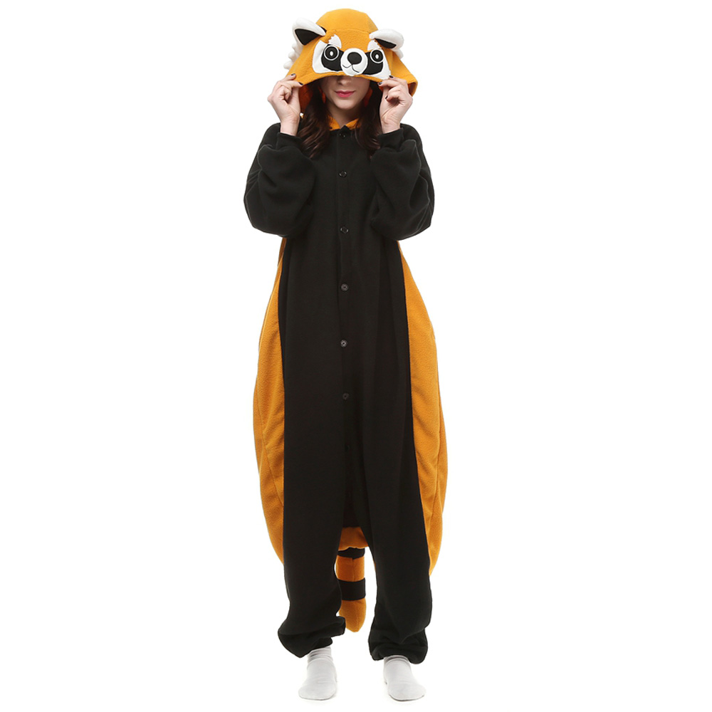 Raccoon Kigurumi Costume Unisex Fleece Pajamas Onesie